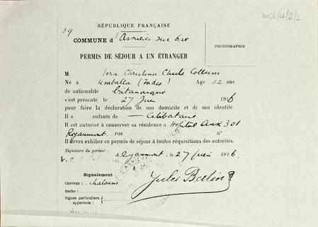 French residence permit - Vera Collum