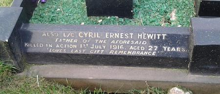 Cyril Hewitt remembered in Cudworth Cemetery