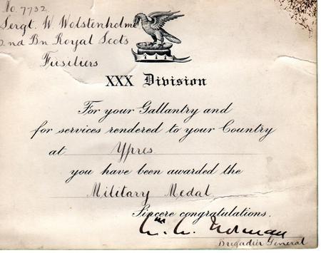 Military Medal Certificate