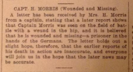 Report in St Annes-on-Sea Express, 9/11/1917