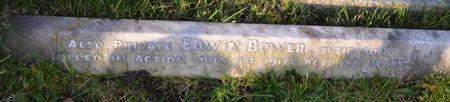 Edwin remembered in Bsrnsley Cemetery