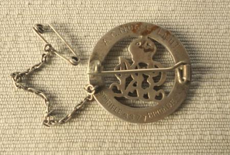 ACN's Silver War Badge Rear
