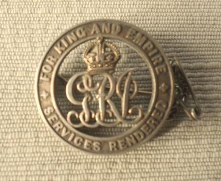 ACN Silver War Badge