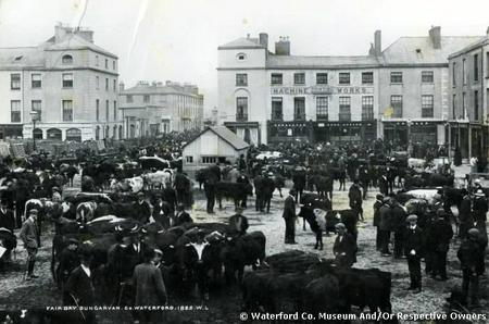 Fair Day, Grattan Square, Dungarvan, circa 1900