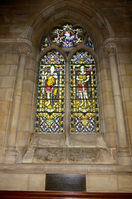 Stained glass memorial window