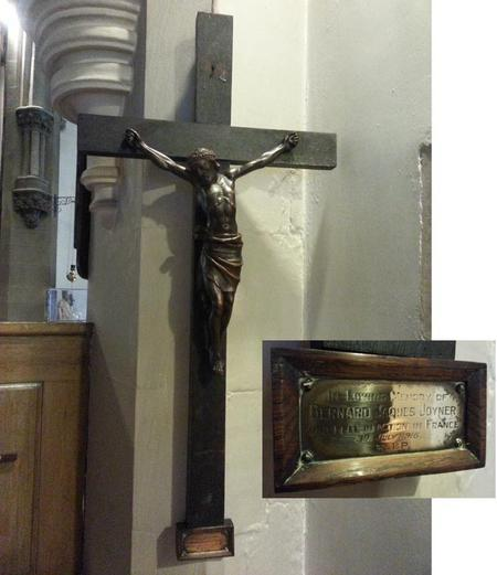 Memorial cross in Cudworth church