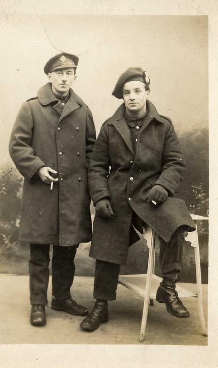 Frederick James Chaplin (on left)