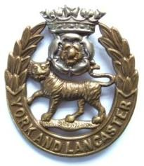 York and Lancaster Cap Badge