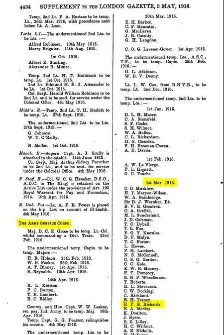 Gazette 3 May 1916