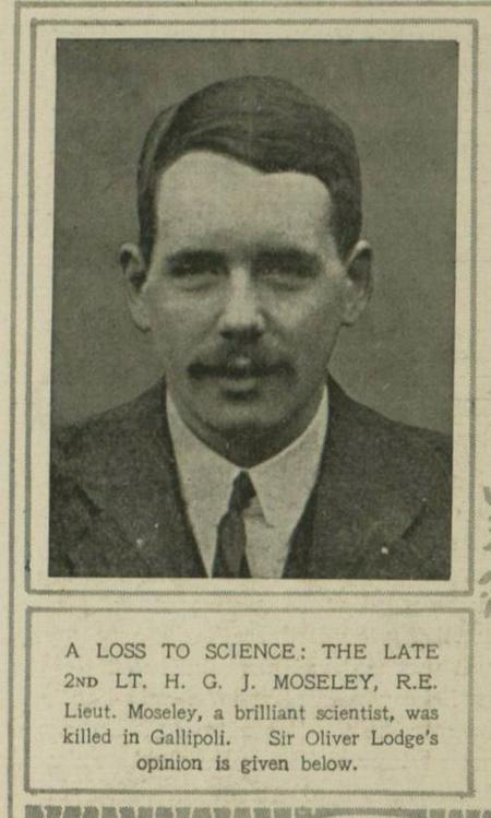 A Loss to Science: 2nd Lt H.G.J. Moseley, RE.