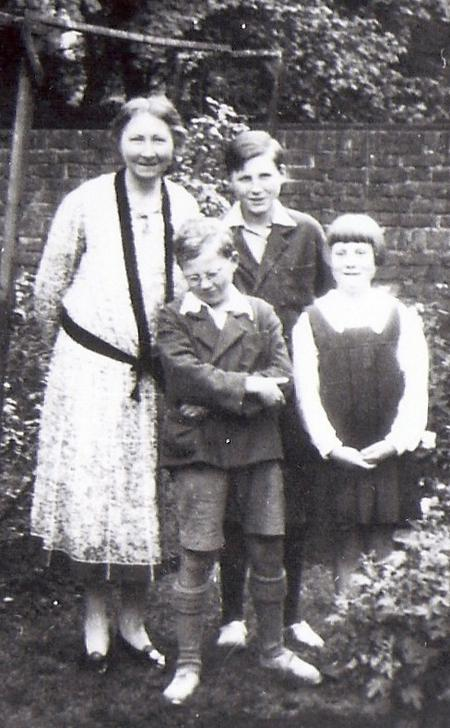 Gertrude with three of their children.