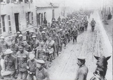 British prisoners of war, March 1918.