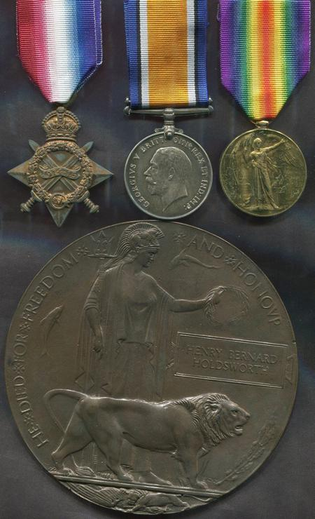 Henry Bernard Holdsworths's medals and plaque