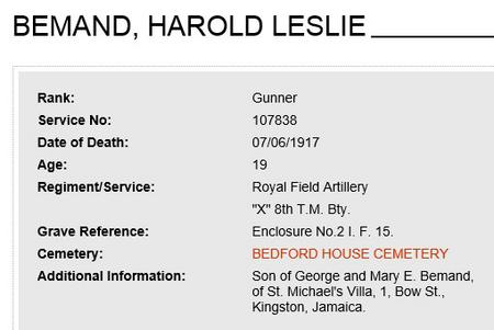 Harold L Bemand/ Bernand