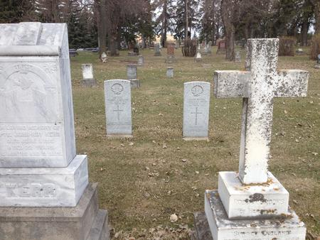 Tombstones for Pte Skelton and Pte Insley