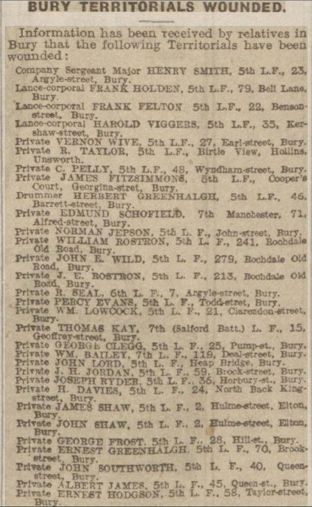 Gallipoli Wounded - 1915 Manchester Evening News