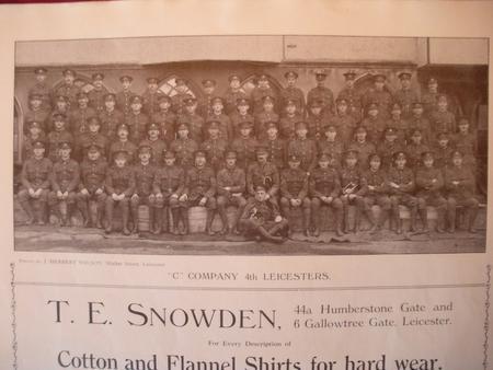 C Company, 1/4 Leicestershire Regiment