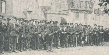 British soldiers on the way to Mons