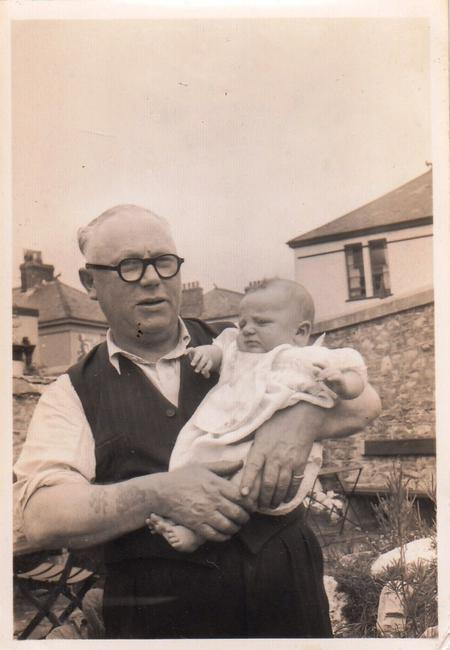 Patrick Barrett with his grandson Tony