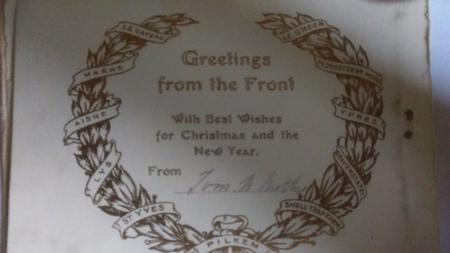 Inside Cover of Christmas Card