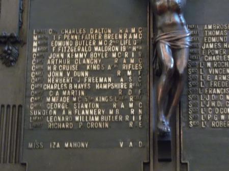 Panel 2, Roll of Honour, St. Mary's Church, Dublin