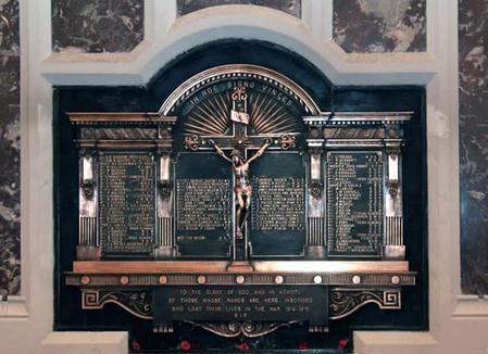 WW1 Memorial, St. Mary's Church, Haddington Rd.