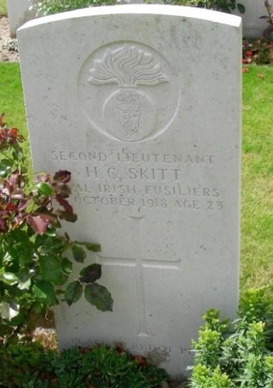Grave Headstone - 2/Lt HG Skitt
