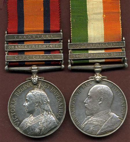 QSA and KSA medals