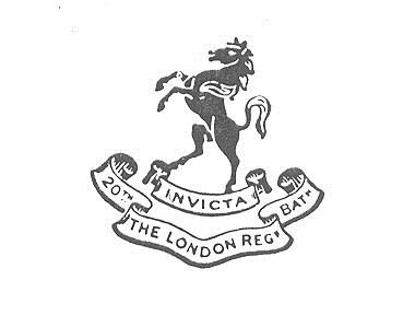 20th Bn. London Regiment cap badge