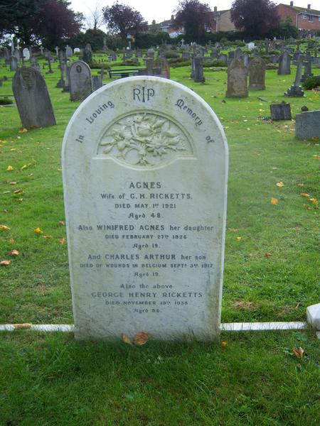 Died of wounds in Belgium 3rd September 1917