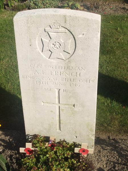 Photograph of Albert's grave