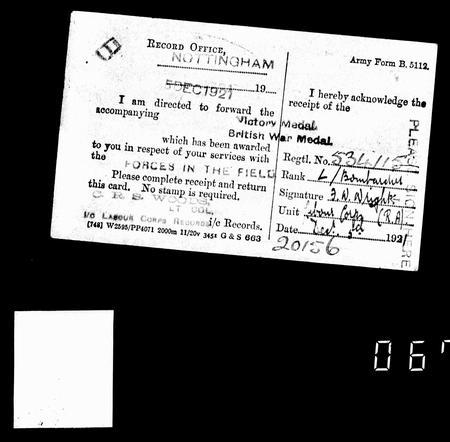 medal receipt