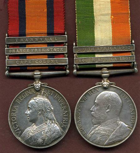 QSA and KSA medals