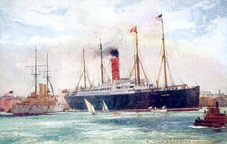 SS Ivernia in Boston Harbour