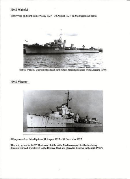 S H Slade's Navy career