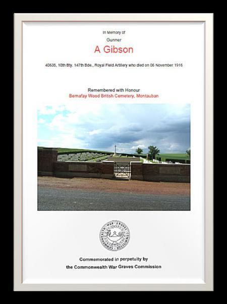 CWGC Commemoration