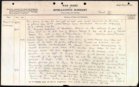 147th Brigade, RFA War Diary Extract