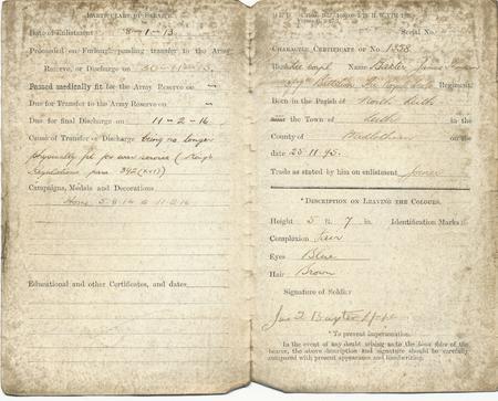 James Baxter Military Paper