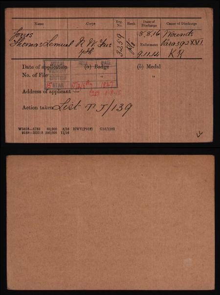 Jones TL 3259 RWF discharge card