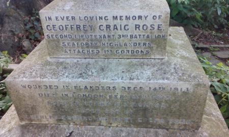 Inscription on Rose's tomb
