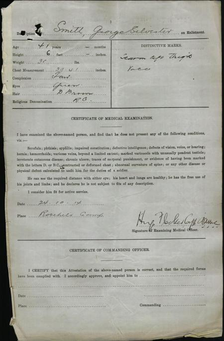 Certificate of Medical Examination