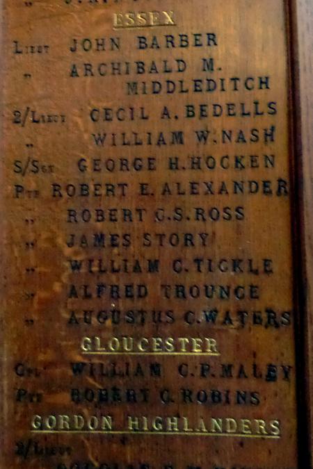 Billy Tickle on Hornsey War Memorial