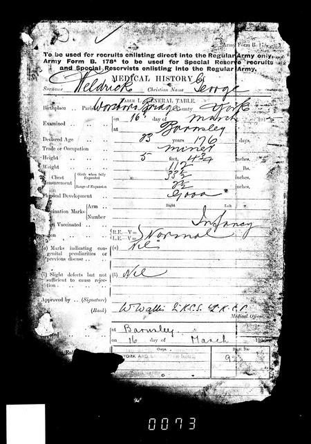 Medical History George Weldrick Y&L 14/923