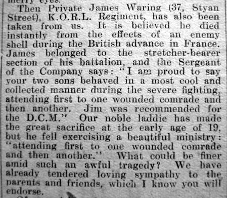 James Waring - Obituary