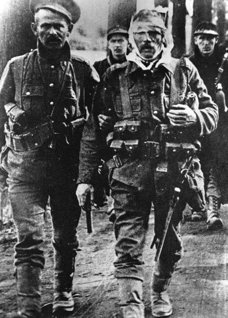British and Belgian soldiers, Mons