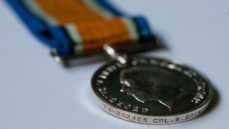 British War Medal for William Spiking
