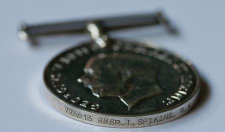 British War Medal for Thomas Spiking