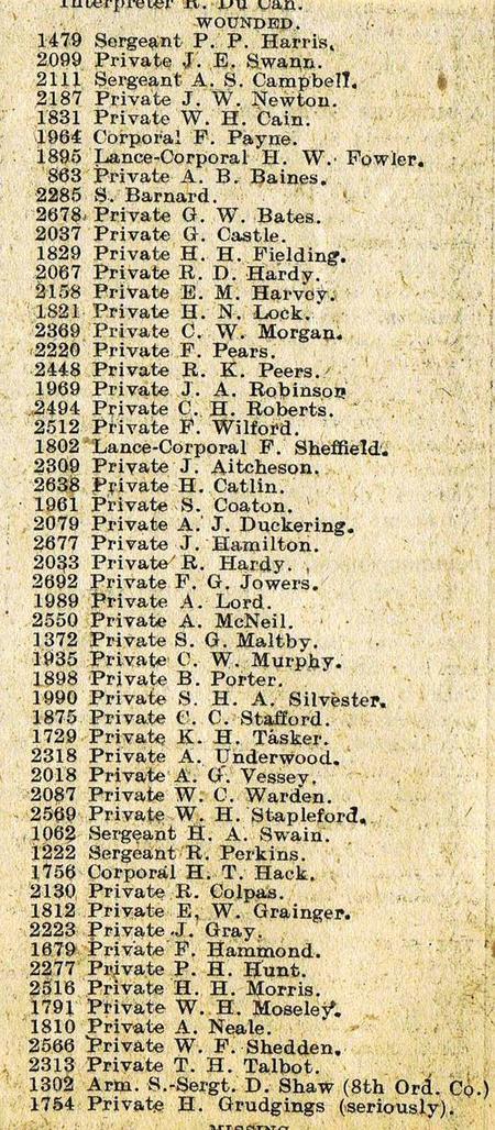 Adjutant's List