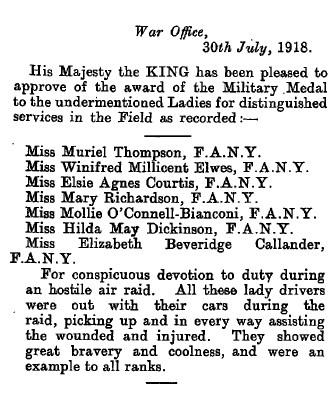 Military Medal Citation