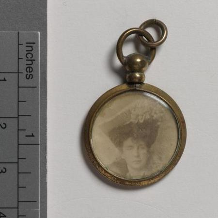 Locket containing a photo of Percy's mother